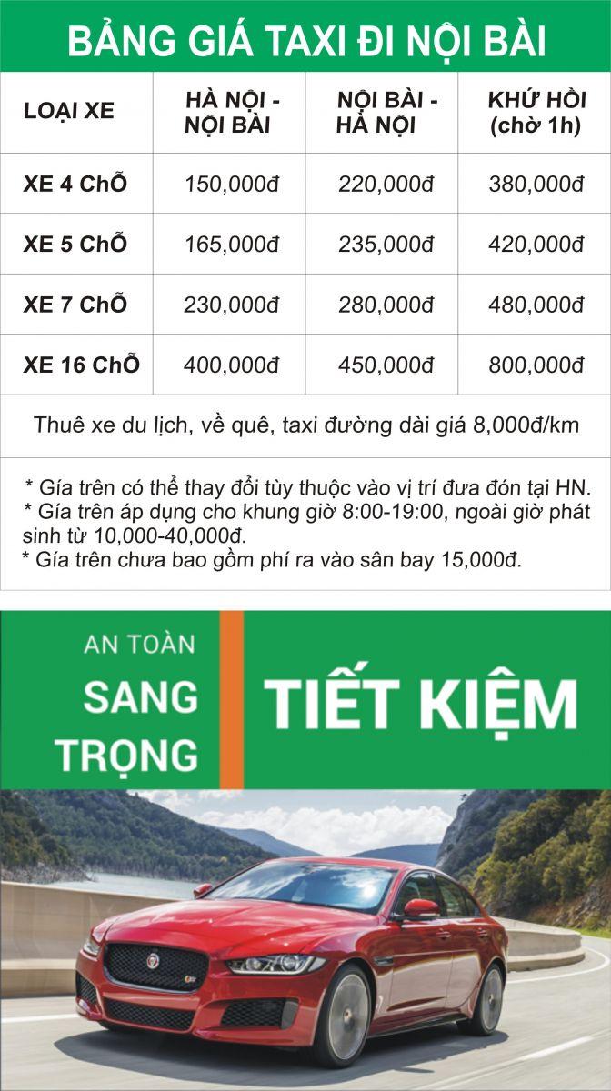 Taxi Nội Bài từ 150,000đ
