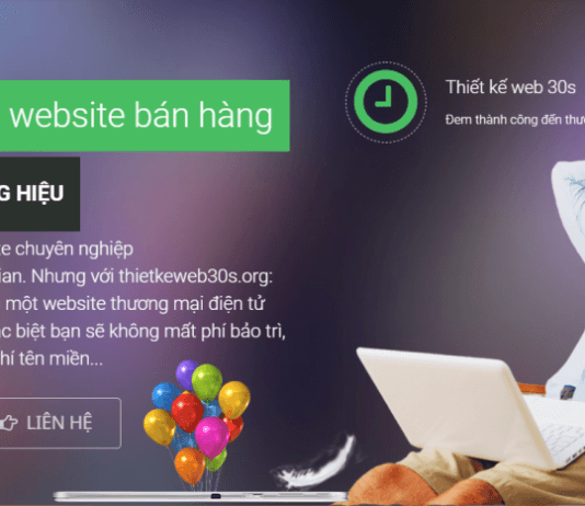 Cong ty thiet ke web 30S